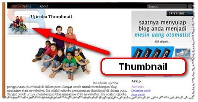 memasang post thumbnail